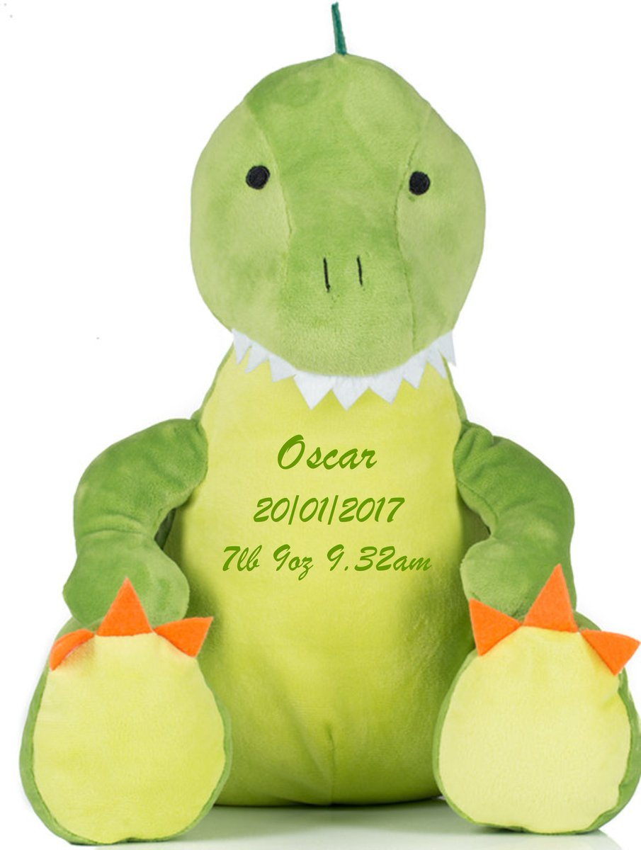#WIN one of new #personalised dinosaur soft toys  Simply RT + F to enter   https:// buff.ly/2xNG7RB  &nbsp;    #giveaway #prize #competition #comp #FREE <br>http://pic.twitter.com/KcOyafY7kj