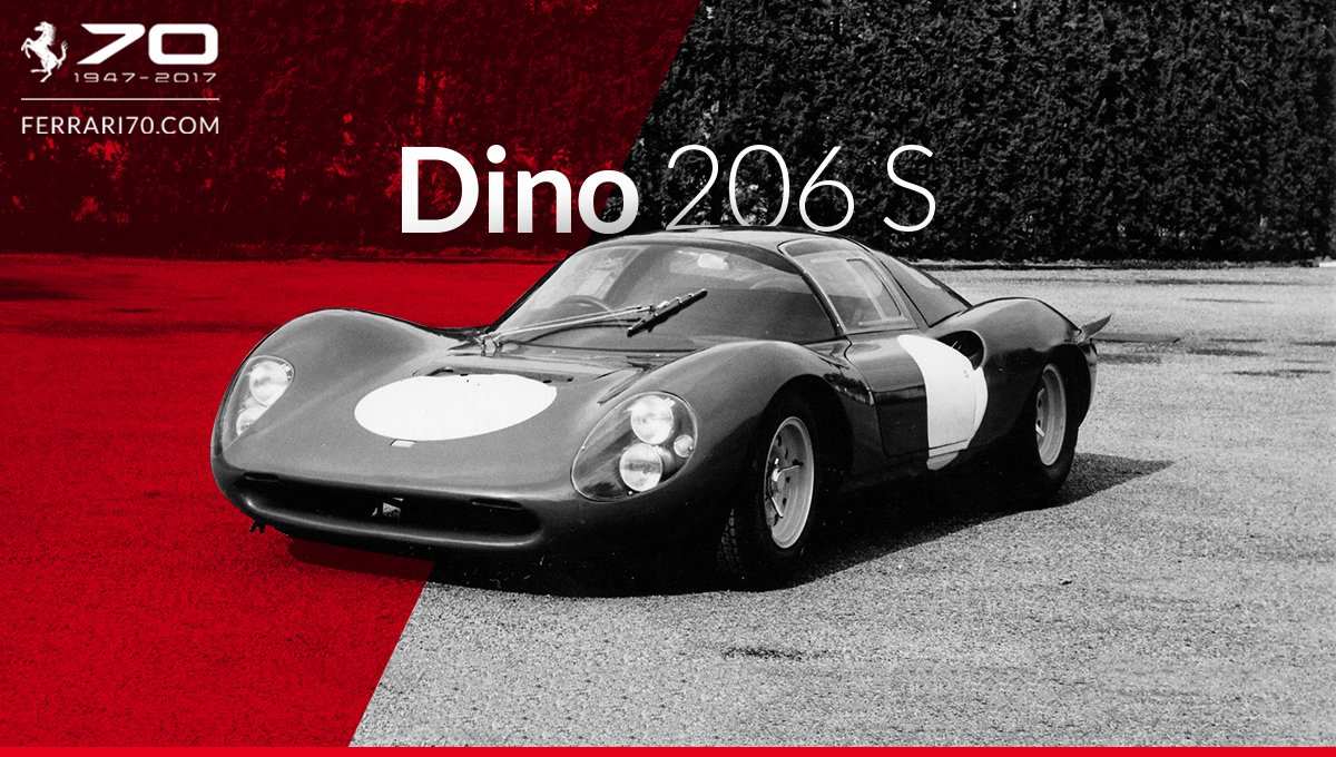 Get ready to step back to the 60's with the #Ferrari Dino 206 S:  http:// bit.ly/Garage_Dino206S  &nbsp;   #Ferrari70<br>http://pic.twitter.com/ZacbOwsQvc