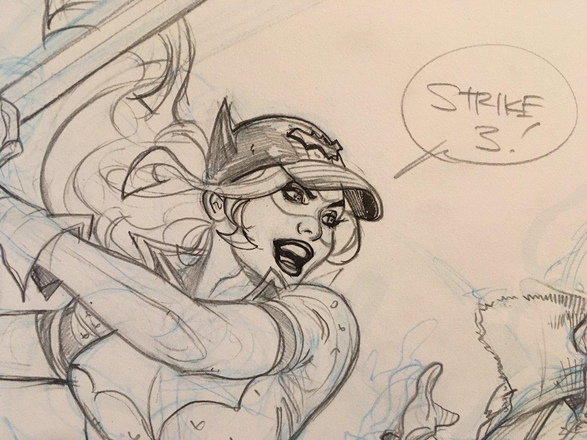 Strike 3 - you're out!  #workinprogress #cover #pencils #fallclassic #bombshells #batwoman @DCComics @copicmarker @strathmoreart @STAEMars<br>http://pic.twitter.com/0MLQXXhxdv