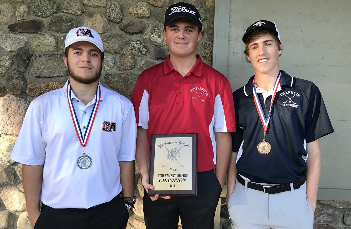 North Attleboro's Dylan Kane fires a 77 to win the individual title. OA's Ryan McGarry (78) second, Franklin's Bryan Woelfel (79) third.