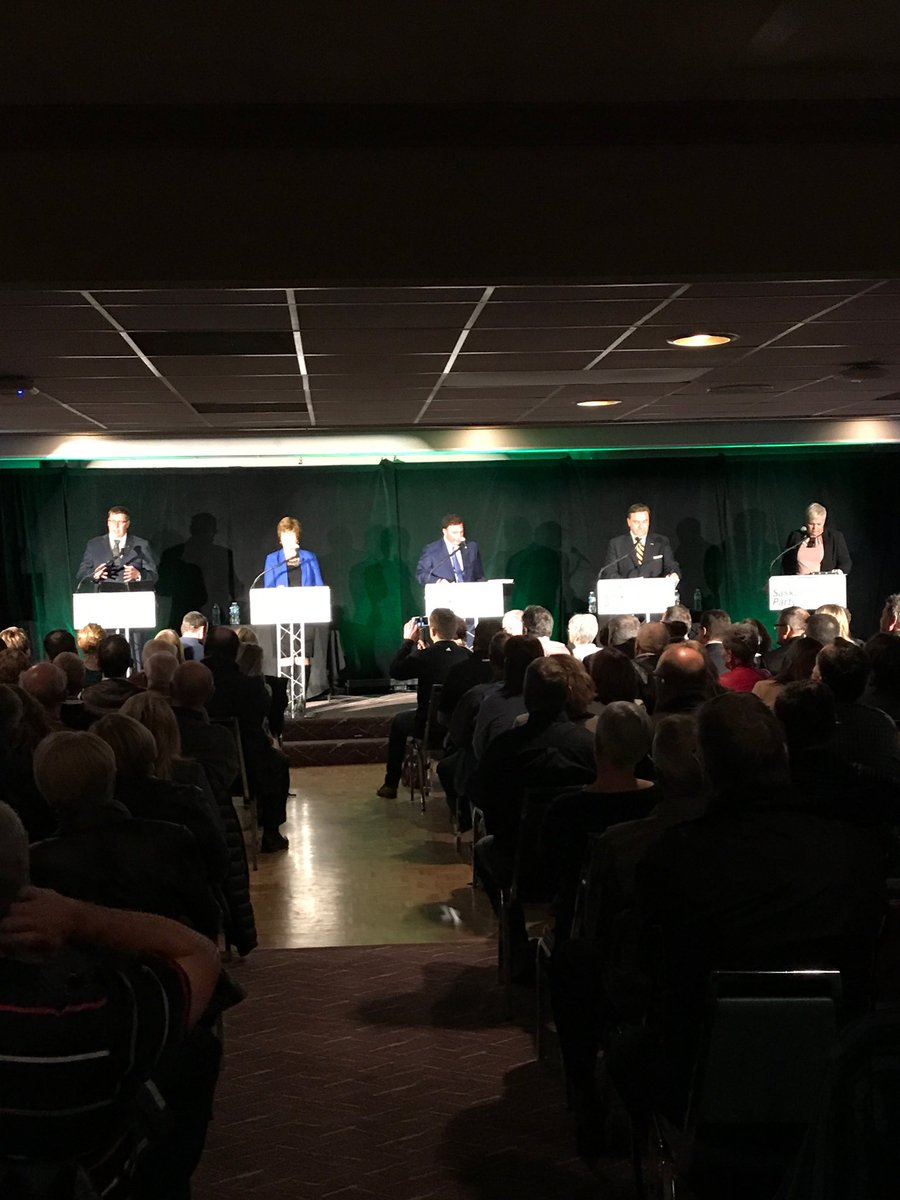 All five are up! @ScottMoeSK @alannaforleader @GordWyant @kencheveld @tbeaudrymellor #skpldr