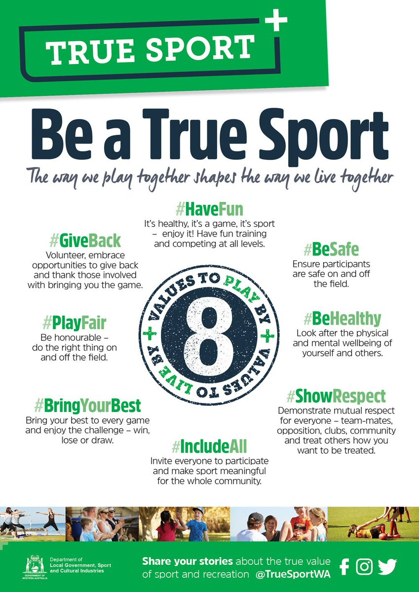 #WorldValuesDay. #TrueSportWA is  about recognising &amp; using 8 values to share the benefits #sport and #recreation brings to our #community<br>http://pic.twitter.com/sRk002aOJj