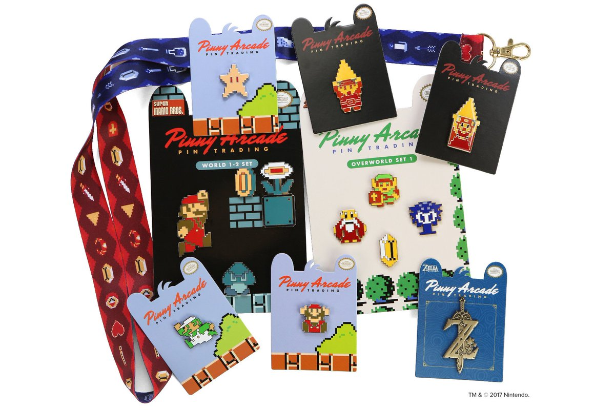 Pinny Arcade On Twitter Nintendo Based Joys Await You At Paxaus Overall Set 2017 With Our Legend Of Zelda And Super Mario Bros Pin Sets