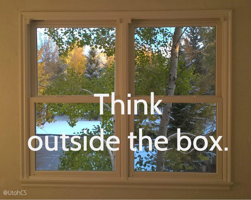 Think outside the box today. #thinking #ThinkBIGSundayWithMarsha #Thinkingaloud <br>http://pic.twitter.com/JqLAjwNswZ