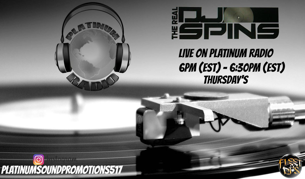 Check Out @therealdjspins live From 6pm - 6:30pm Est On @PlatinumRadio10  ---&gt;  http:// ow.ly/HtPh30ek0Xg  &nbsp;      #Hiphop #TuneIn #Music #NewMusic<br>http://pic.twitter.com/CzF3Fg06zN