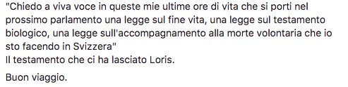 Il testamento che ci ha lasciato Loris.  #Piazzapulita  #IlDirittoCheN...