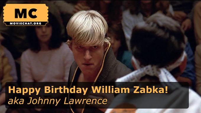 Happy Birthday to William Zabka! Barney will be raising a glass ;)