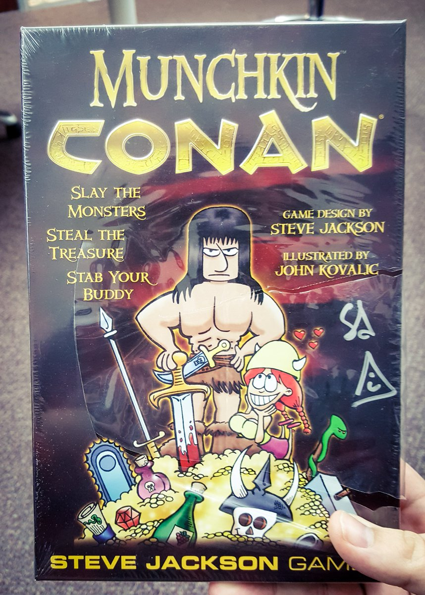 Time for a #ThrowbackThursday contest! Follow &amp; RT for a chance to win this SIGNED #MunchkinConan! (one winner chosen randomly) -HS<br>http://pic.twitter.com/hNKnJDrbeR