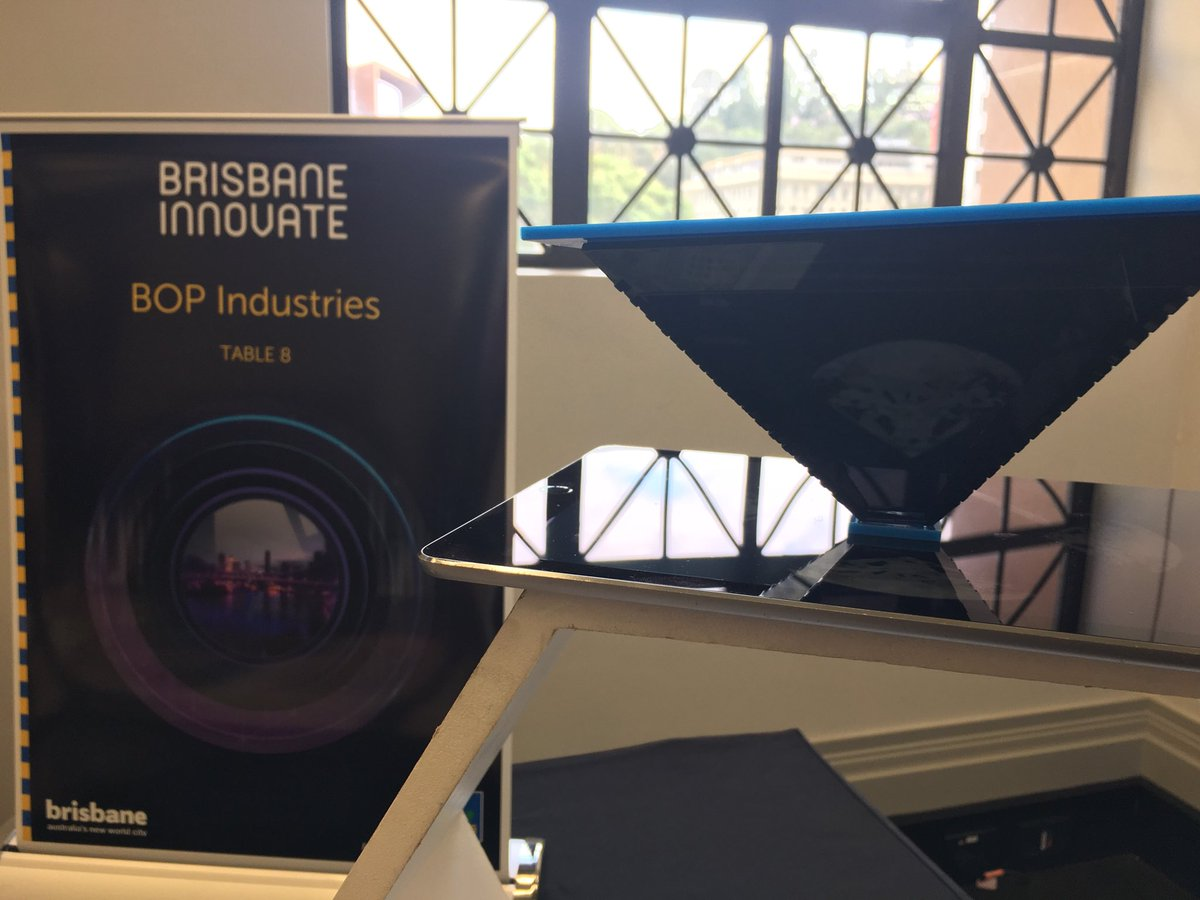 All set here at #BrisbaneInnovate showcasing out #holograms and #STEMworkshops come by and say hi - we're at #CityHall #BNEinnovation<br>http://pic.twitter.com/BhkdLUzJIx