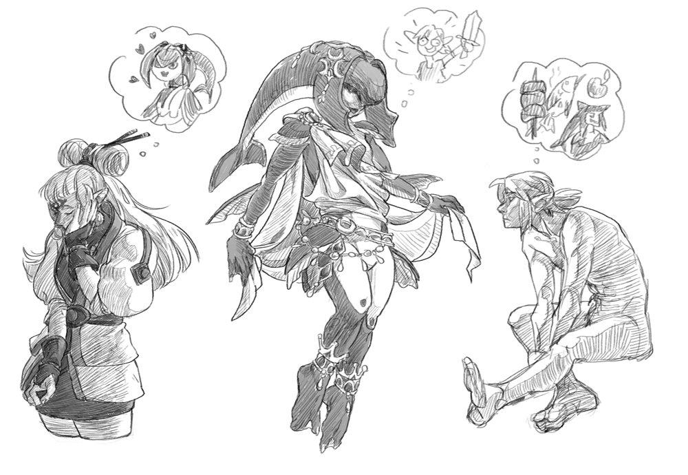 doodlin some doodles #loz #botw #sidlink #mipha #paya #link <br>http://pic.twitter.com/yxHx2CP9P4
