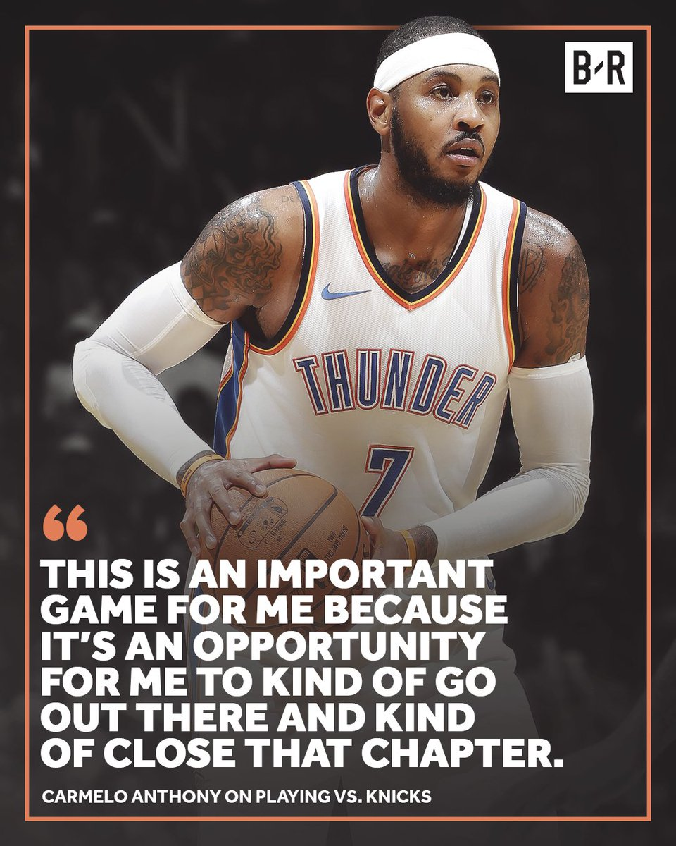 Melo is ready to move on. https://t.co/4ZpssBkNAh