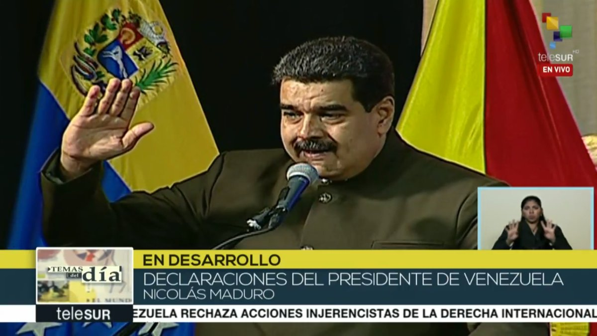 #FromTheSouth | @NicolasMaduro whoever is not sworn to the ANC can not assume his position.