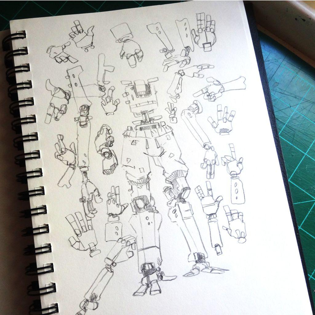 Put your hands up, we have you surrounded   #sketchbook #mech #robot #scifi #sketch<br>http://pic.twitter.com/PjITapjJhj