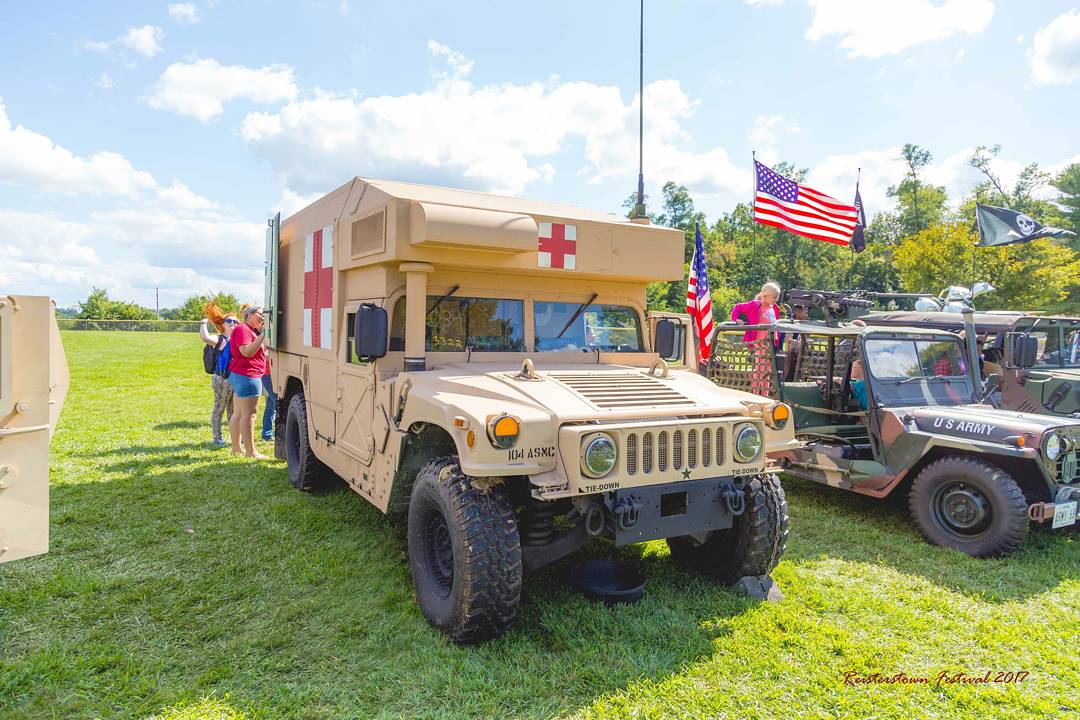 Scenes from this year's Military Exhibit. Definitely an attraction for many! #Humvee #Military #festival #jeep