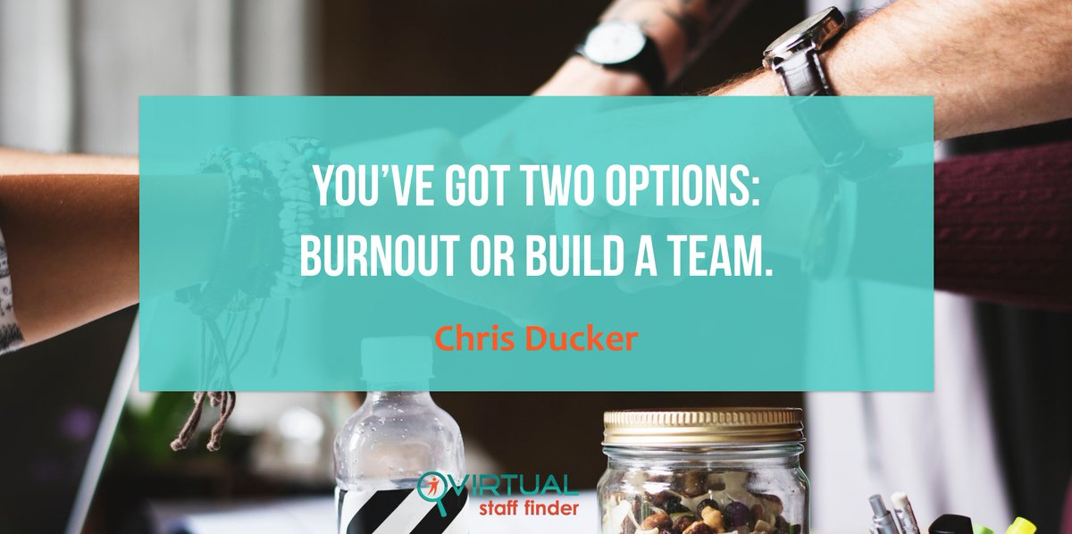 Which one is it going to be? Burning out or building a team? #entrepreneur #outsourcing #teamwork #productivity #virtualassistants <br>http://pic.twitter.com/aoQz2INWZG