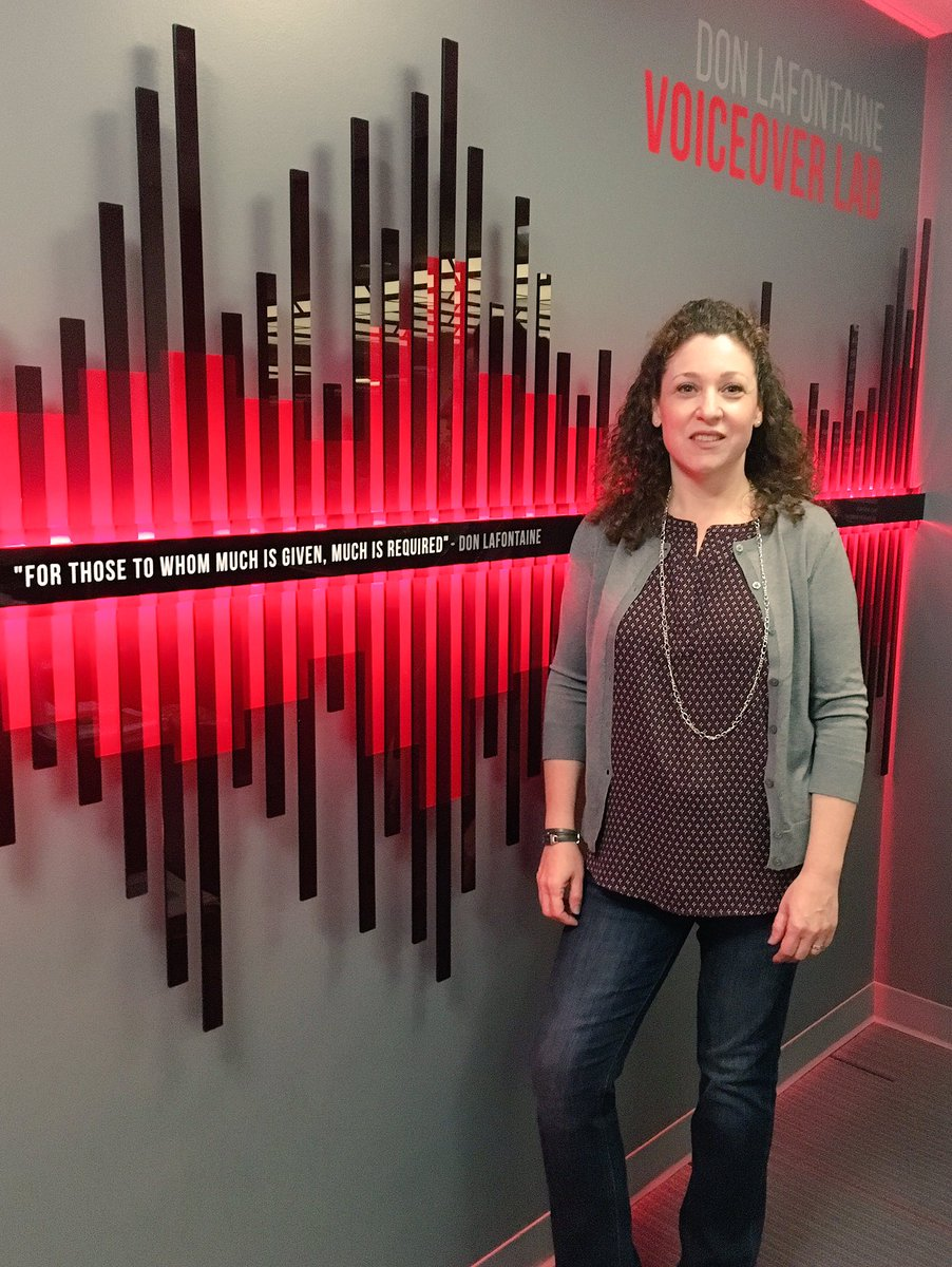 Emmy-winning animation #casting director #MeredithLayne is here at the #DLFVOLab in Los Angeles to lead a #voiceover workshop! #VO<br>http://pic.twitter.com/QPI1hZW4q9