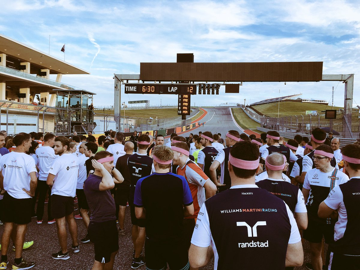 Get the #USGP weekend started with a @SusanGKomen @COTA track run. Fingers crossed I make it. #HaasF1 <br>http://pic.twitter.com/ByVVTnVnCV