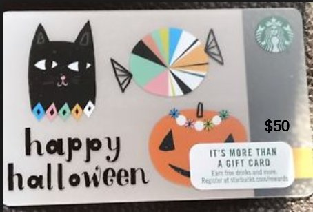 Retweet &amp; Hit like for your chance to win a FREE #starbucks #halloween $50 Gift Card   Must Follow us &amp; Tag someone to win!! Comment ur city <br>http://pic.twitter.com/onzwqnx8Qe