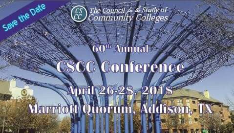 Mark your calendar for this year&#39;s #CSCC conference! #comm_college #highered <br>http://pic.twitter.com/IRuArjF6X9