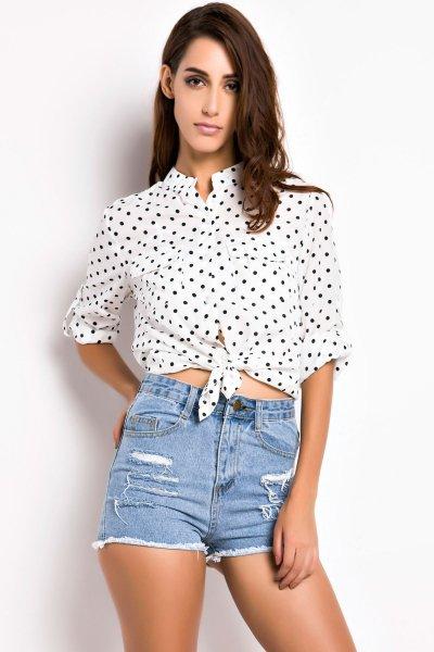 Fashion Polka-Dot Print Long Sleeve Shirt |   http:// ow.ly/W2vN30fZcv2  &nbsp;   #flockbn #87RT #fashion #fashionblogger #smartsocial #likeforlike <br>http://pic.twitter.com/Yx0oirH0Dw