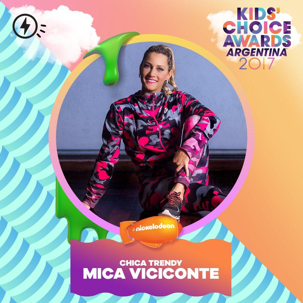 ¡LO SABÍAMOS! 💖 ¡@MicaViciconte es la CHICA TRENDY del año! 💚✨¡Ustedes hicieron esto realidad! #KCAArgentina2017