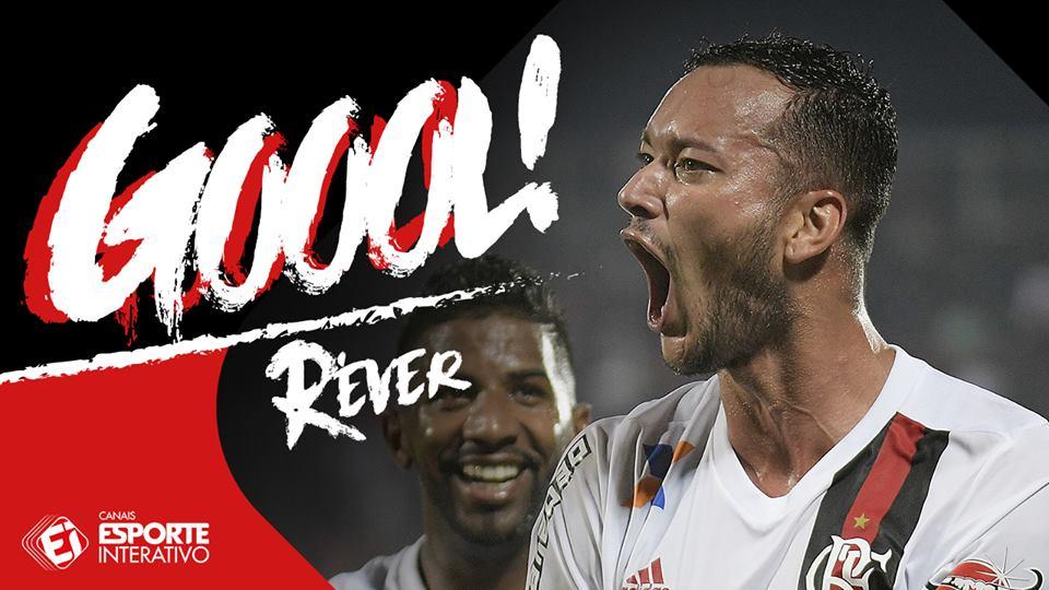 GOOOOOOOOOOOOOOOOL! É DELE DE NOVO! Réver faz seu segundo no jogo e coloca o @Flamengo à frente de novo! 2 a 1! #FLAxBAH
