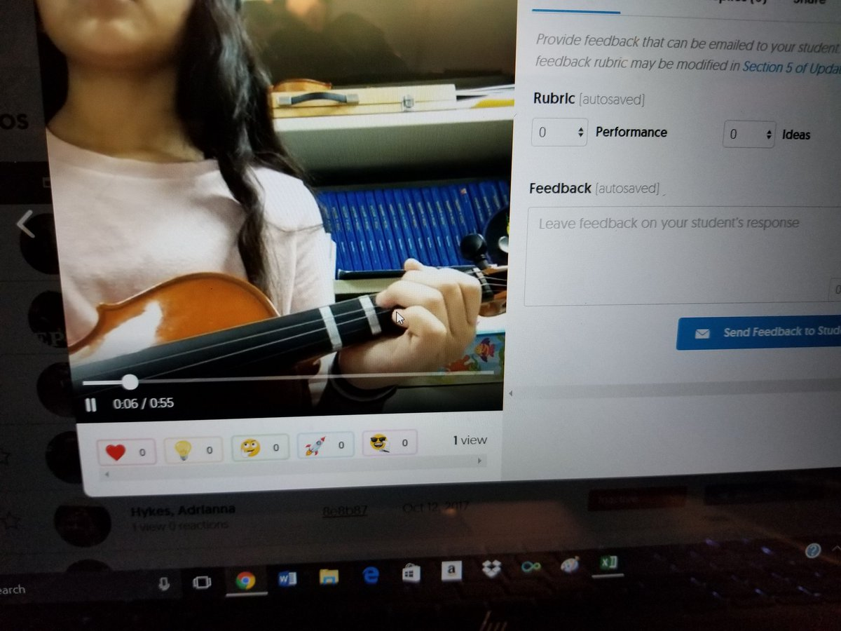 Reviewing #orchestra playing tests in @Flipgrid tonight by the elem, MS, and HS level students. @WVMEA @NAfME @ASTAweb @BerkCoSchoolsWV<br>http://pic.twitter.com/MJiBUz71Cu