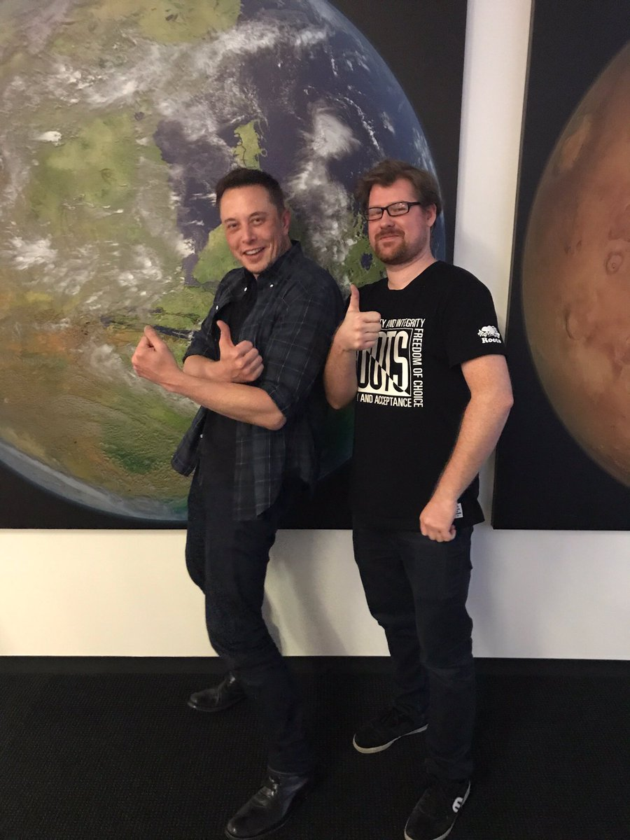 Thank you for being a humble genius, a dreamer, and a beacon of hope for humanity @elonmusk