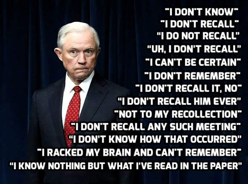 America, does AG Jeff Sessions have memory loss?   #SneakySessions  #TrumpGate #TrumpRussia<br>http://pic.twitter.com/EbkSneRaoq