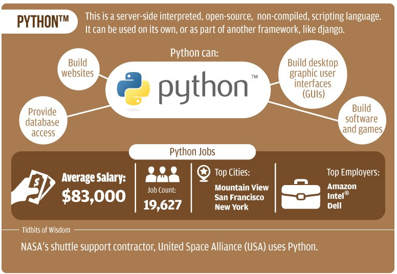 Why the choice of #Python as a #programming language   #IT #Tech #coding #defstar5 #infographic #webdev #webdesign<br>http://pic.twitter.com/hORqX8l3GY