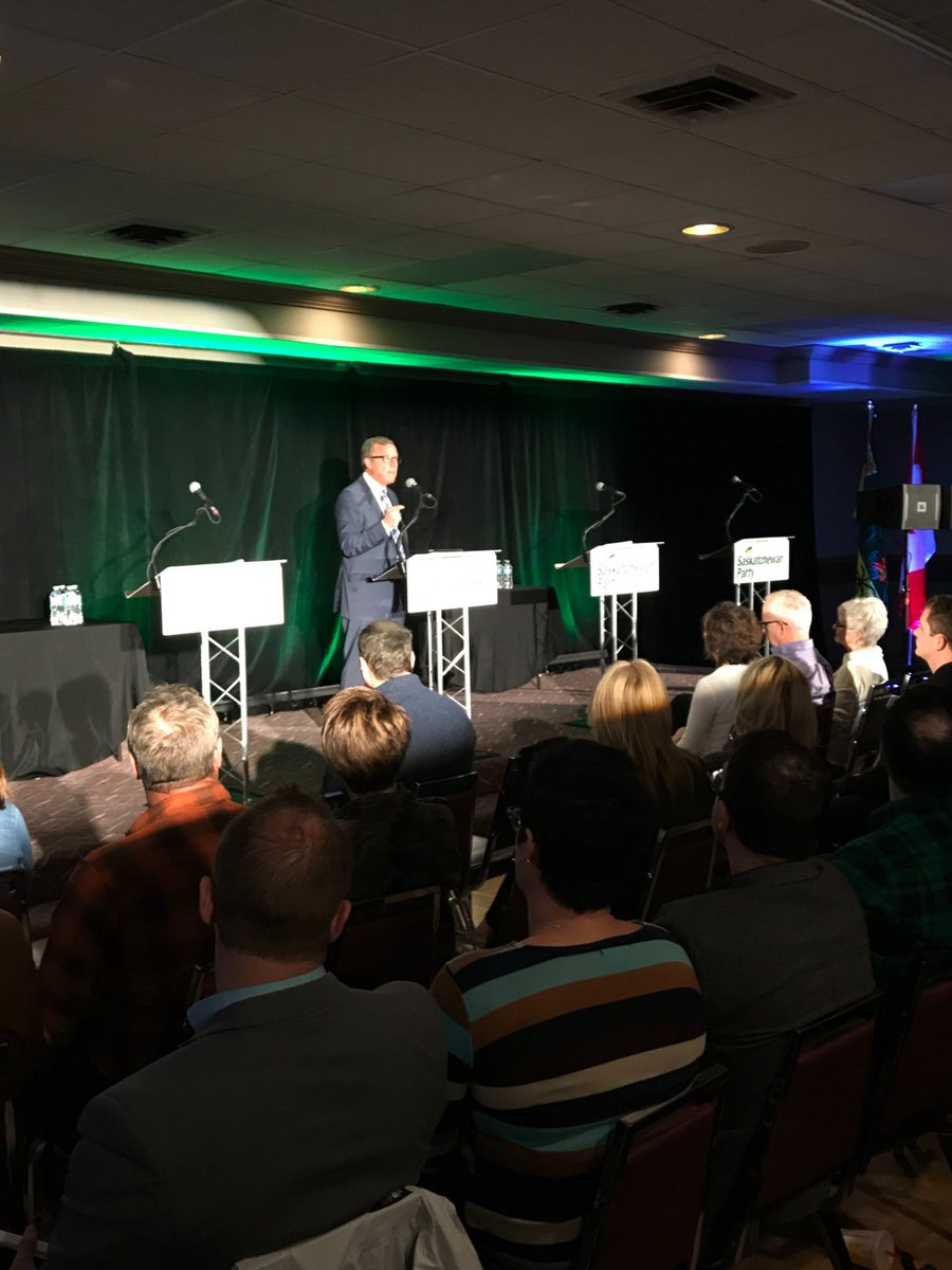 Opening the #skpldr debate with remarks from @PremierBradWall! #skpoli