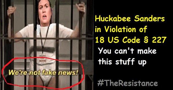 @co_rapunzel4 @CitizensFedUp @MtnMD #PuertoRico #FBI #Veterans #Law Prison or Mueller&#39;s NEXT Future Singing Bird?  http://www. impeachdjtnow.com/just-got-worse -sarah-huckabee-sanders-prison-time-possible-andor-fines/ &nbsp; … <br>http://pic.twitter.com/ZQjhcc9s4M