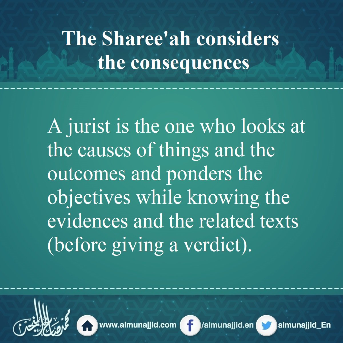 The Sharee&#39;ah considers the consequences   #consequences #evidence #text <br>http://pic.twitter.com/Hbdxnu28Oo