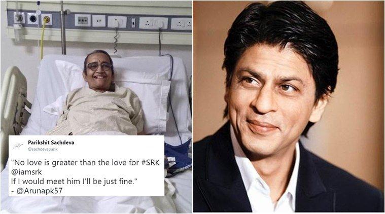 Cancer patient's last wish is to meet @iamsrk ; Twitterati make #SRKMeetsAruna trend https://t.co/uJXviZWWB4