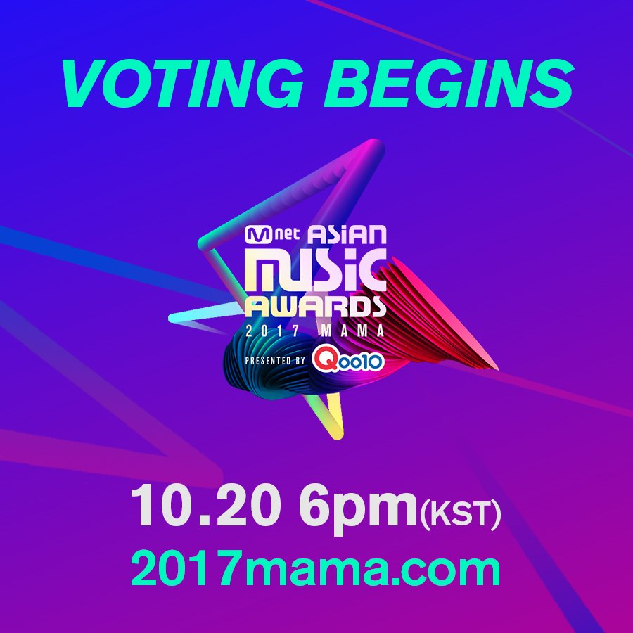 [#2017MAMA] Voting opens today 10.20(Fri...
