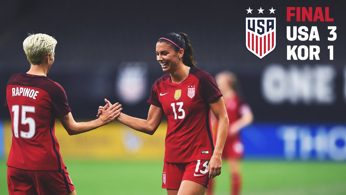 Win streak now at five!   The #USWNT takes care of business in NOLA. Next up: #USAvKOR in Cary!<br>http://pic.twitter.com/V1QDSu0Yvv