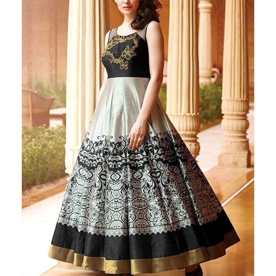 Long Anarkali Gown  http:// dlvr.it/Pwd94n  &nbsp;   #Gown for more details and pricing information. <br>http://pic.twitter.com/pV09sd1Wvu