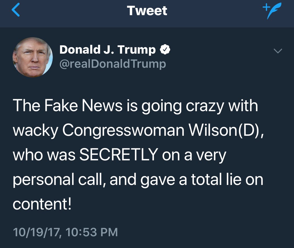 Thank goodness Kelly's emotional rebuke changed the topic from @realDonaldTrump's subhuman call to a new military widow. #HesCrazy