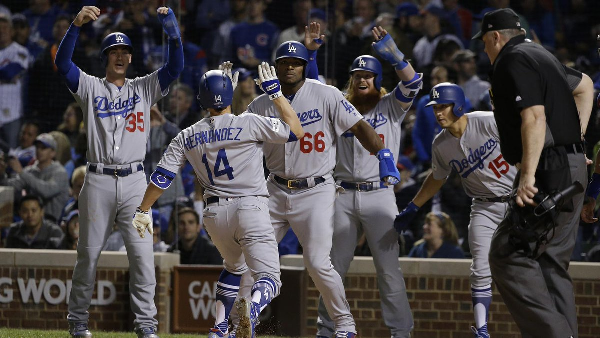 The @Dodgers eliminate @Cubs in #NLCS, advance to first World Series since 1988. #MLB  http:// bit.ly/2xSi1oJ  &nbsp;  <br>http://pic.twitter.com/ckYCR1CzEJ