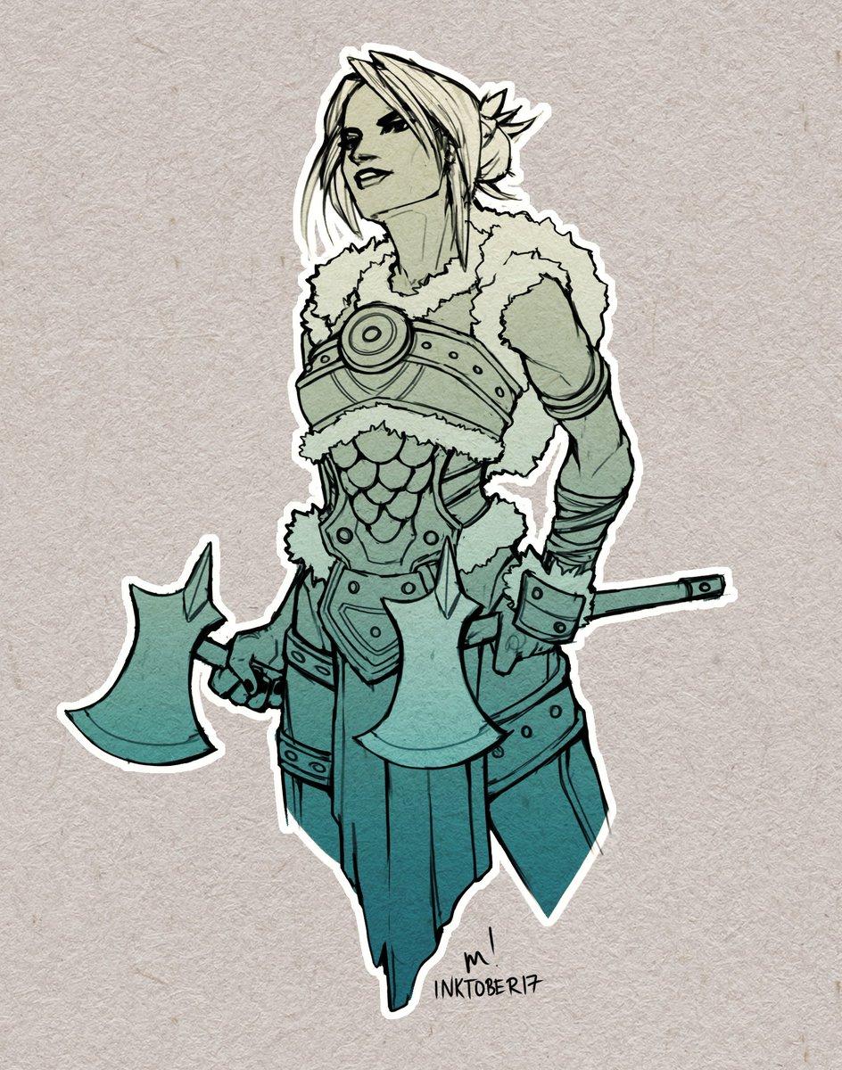 Female Viking Warrior Artwork