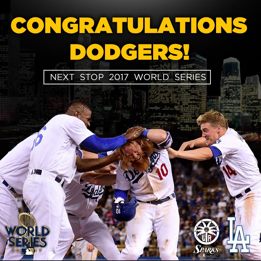 Congrats @Dodgers on to the #WorldSeries ⚾️❤️! https://t.co/0vpn52AdBZ
