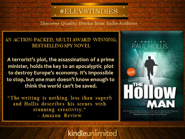 #RT #ELEV8TINDIES #Mustread AWARD WINNING SPY #THRILLER   http:// getBook.at/HollowMan  &nbsp;     @HollowManSeries  #FREE #KindleUnlimited #IARTG<br>http://pic.twitter.com/0k1lH9qHwy