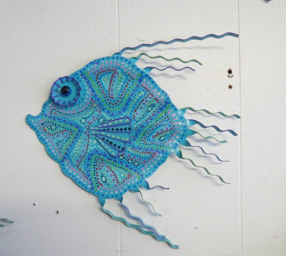 Whimsy Metal #Fish #Wall or #Outdoor #Art by Glances Back Vintage @McClainDebby. #decor  http:// etsy.me/2kBvNKo  &nbsp;   via @Etsy<br>http://pic.twitter.com/X2cKdt81ZO