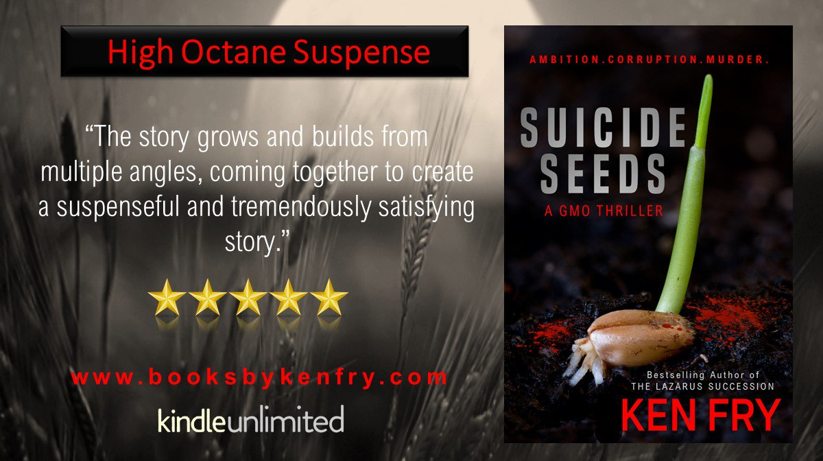 RT A #GMO #THRILLER #99cents   http:// amzn.to/2tGxu9r  &nbsp;   High Octane Suspense #FREE #KindleUnlimited #IARTG #Indiebooksblast @kenfry10<br>http://pic.twitter.com/mwjoMhx660