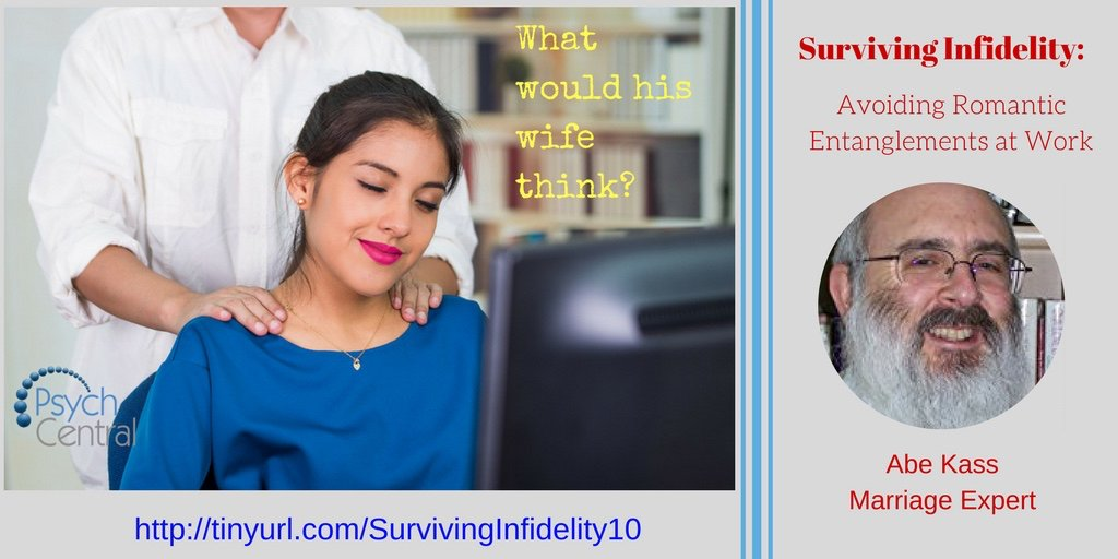 If you wouldn't do it in front of your spouse, then don't do it. #Office #Infidelity My column on office affairs  http:// tinyurl.com/SurvivingInfid elity10 &nbsp; … <br>http://pic.twitter.com/9jXbFS42xn