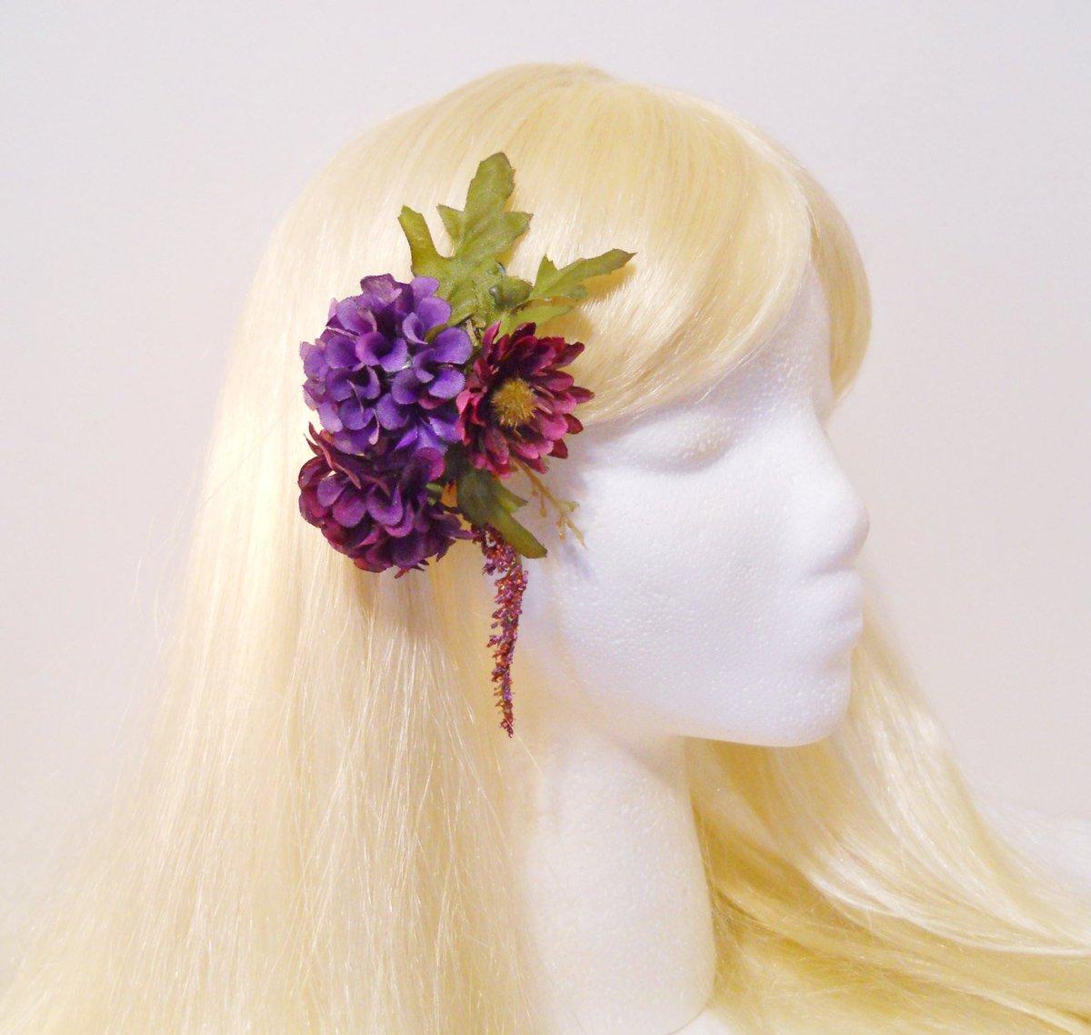 Purple Daisy Hair Clip Purple Flower Burgundy Mum Flower Purple Bar…  http:// tuppu.net/72fc266f  &nbsp;   #Bride #HeatherHairClip<br>http://pic.twitter.com/Oj5ACLoff0