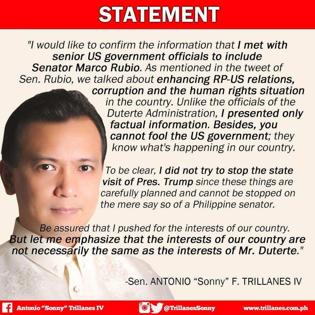 Sonny Trillanes IV on Twitter
