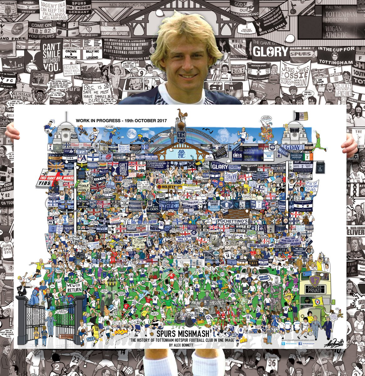 After nearly 4 months of late night doodling, Spurs Mishmash is near enough complete!  http:// goo.gl/WPF63Z  &nbsp;    #THFC #COYS <br>http://pic.twitter.com/kJGznTz71v