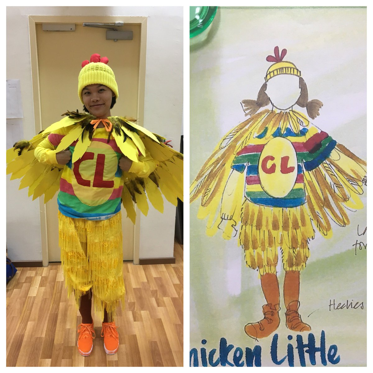 Brunger and Cleary on Twitter  A little sneak peak at some of @HenrySusannahu0027s fab costume designs for Chicken Little @SingaporeTheatru2026    sc 1 st  Twitter : chicken little halloween costumes  - Germanpascual.Com