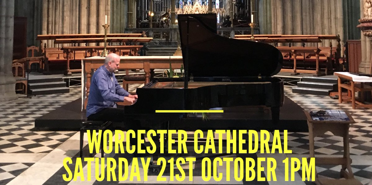 Visit the stunning #Worcester Cathedral tomorrrow, and hear me play pieces from my #piano album Journey, along with some new pieces too! <br>http://pic.twitter.com/dR6XrTPyS9